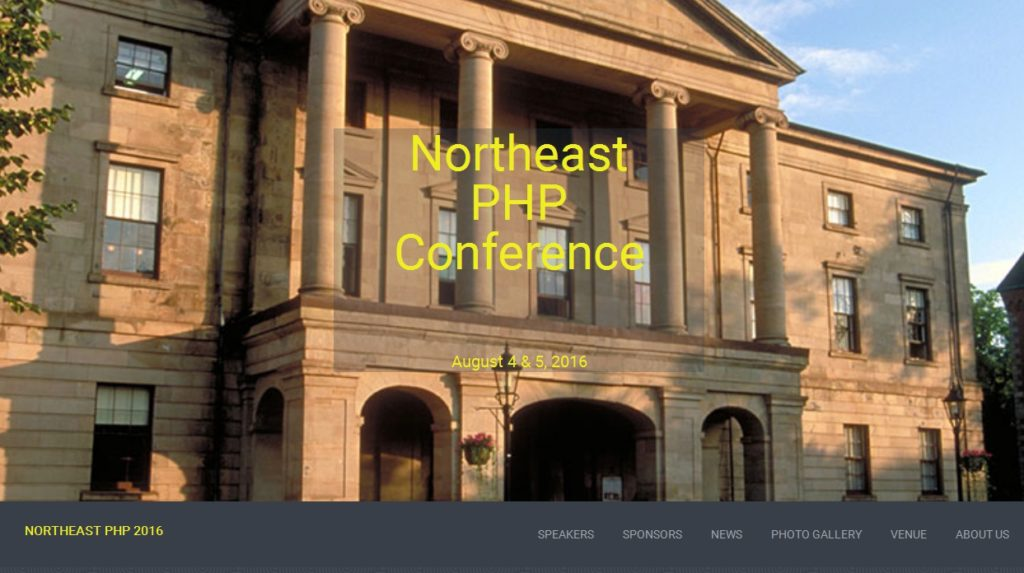 Northeast PHP 2016 Conference